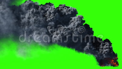 Big black smoke. Black smoke in HD, usable for compositing or effects