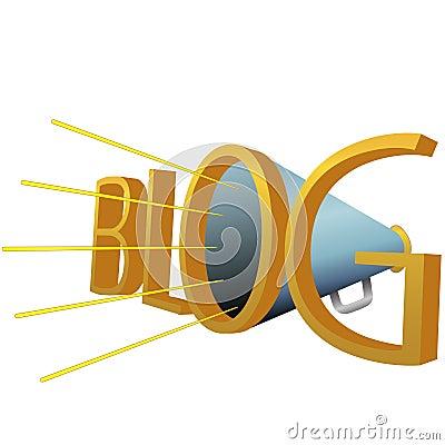 Big BLOG 3D Megaphone for high powered blogging