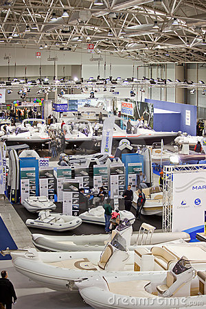 Big Blue Boat Show Editorial Stock Image