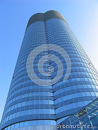 Big blue business building
