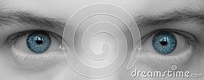 Big blue eyes close up