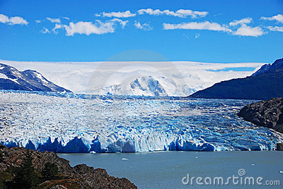 Big blue glacier