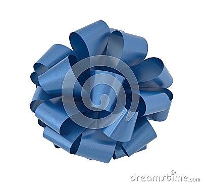 Big blue ribbon bow cutout