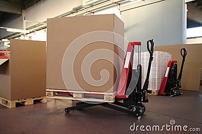 Big boxes on lift