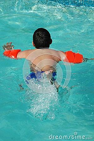 Big boy swimming
