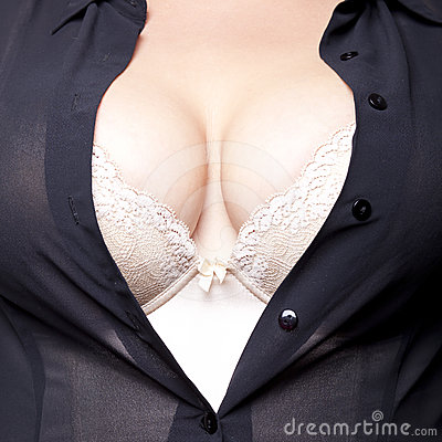 Big Breasts in corset and sheert