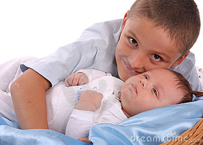 Big brother cares of the baby 2