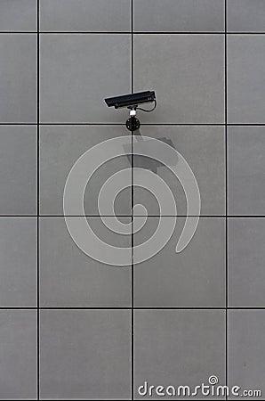 Big brother: Surveillance camera aimed at target