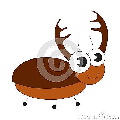 Free Big Brown Bug Cartoon. Royalty Free Stock Photography - 89860727