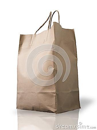 Free Big Brown Crumpled Peper Bag Stock Images - 14858794