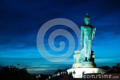 Big Buddha in the evenings.
