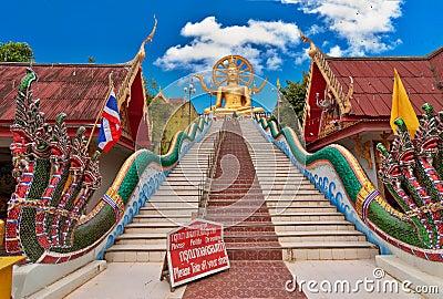 Big Buddha statue. Koh Samui island landmark