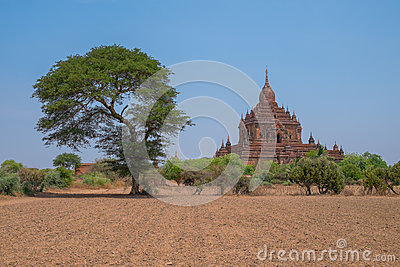 Big Buddhist Temple in Bagan