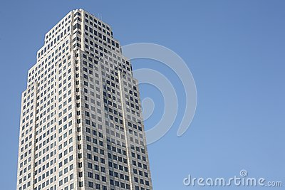 Big building on clear sky