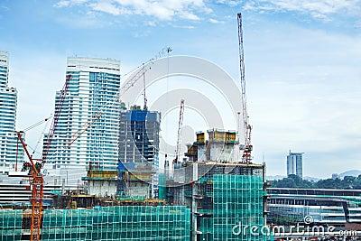 Big building construction