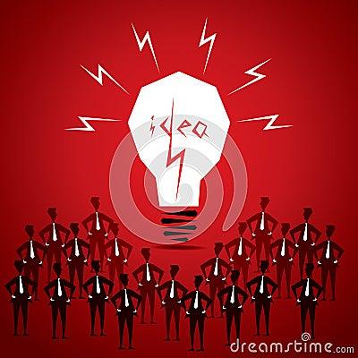 Big idea bulb Vector Illustration