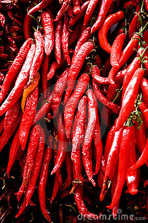 Free Big Bunch Of Red Hot Chilli Pepper Royalty Free Stock Image - 7178416