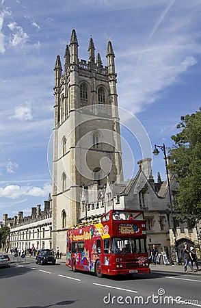 Big Bus at Oxford Editorial Stock Image