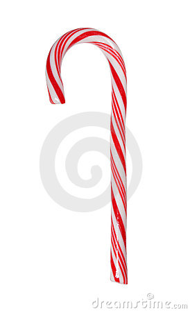 Free Big Candy Cane Isolated With Path Royalty Free Stock Photos - 1590088