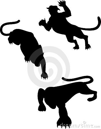 Big cat silhouettes