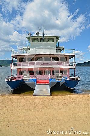 Big catamaran ship