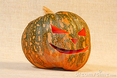 The big cheerful halloween pumpkin