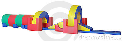 Big children s game complex - obstacle course