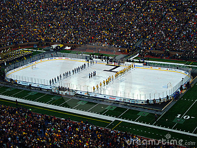 The Big Chill at the Big House national anthem Editorial Image