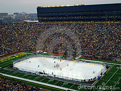 The Big Chill at the Big House Opening Face off Editorial Image