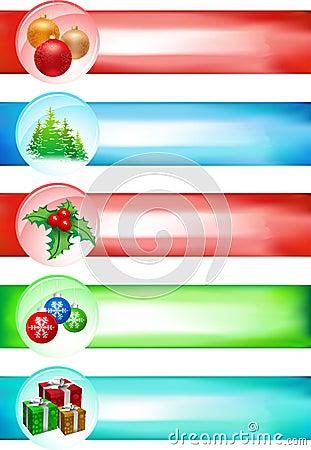 Big Christmas banner set