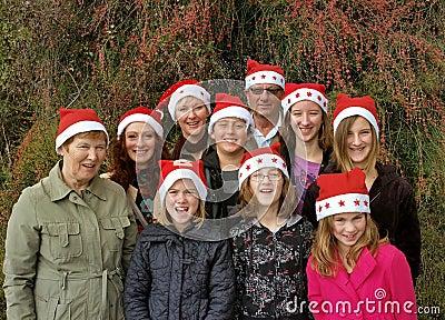 Big Christmas holiday family