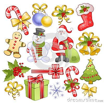 Free Big Christmas Set Stock Image - 11307001