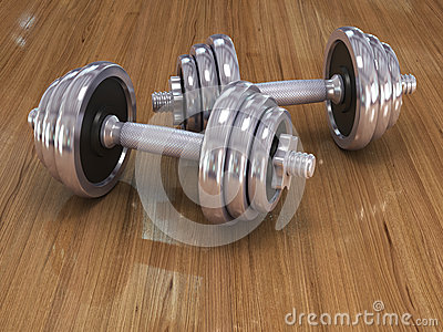 Big chrome dumbells