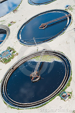 Big circles in water recycling station