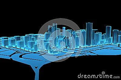 Big City (3D xray blue)