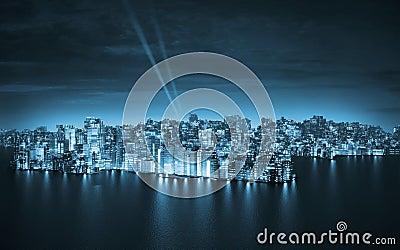Big city by night