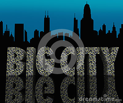 Big City Skyline Cityscape Skyscrapers Urban Night Life