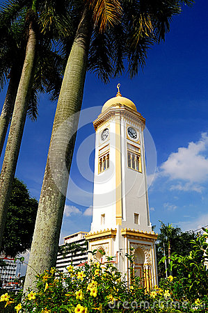 The Big Clock Tower (Menara Jam Besar) Editorial Photo
