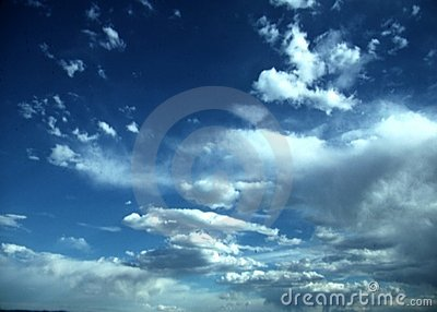 Big clouds and blue sky
