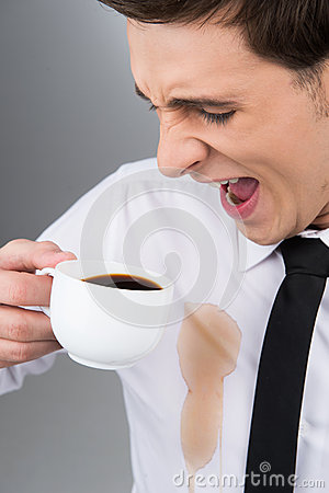 Big coffee stain stock photo image 34096560 for Wine stain white shirt