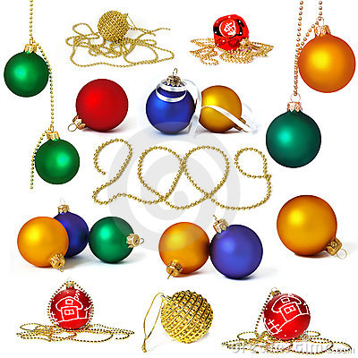 Big collection of holiday spheres
