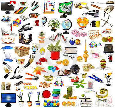 Free Big Collection Of Objects Royalty Free Stock Photos - 7491558