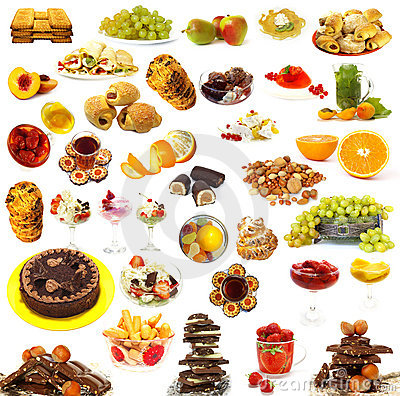 Free Big Collection Of Sweets Royalty Free Stock Photo - 7105055