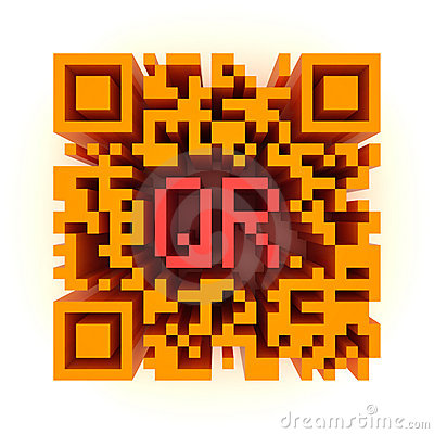 Big color QR-code Editorial Photography