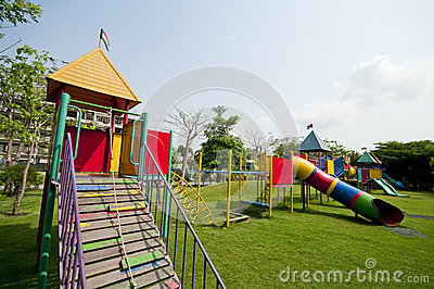 Big colorful children playground
