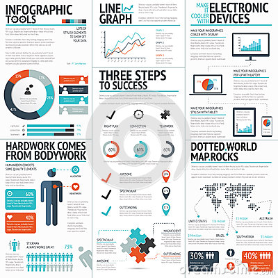 Free Big Colorful Set Of Infographic Business Elements In Vector Format Stock Image - 41037941