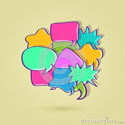 Big Colorful Speech Bubble