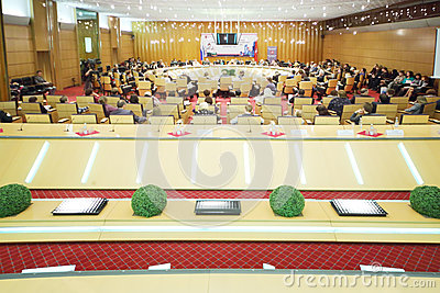 Big conference room at Event Moscow for life and people Editorial Stock Image