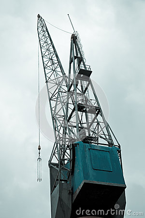Big crane in port