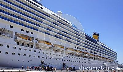 Big cruise ship in malta port